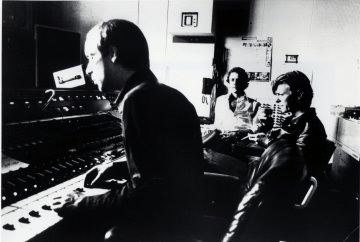 Eno, Fripp and Bowie at the Hansastudios, Berlin