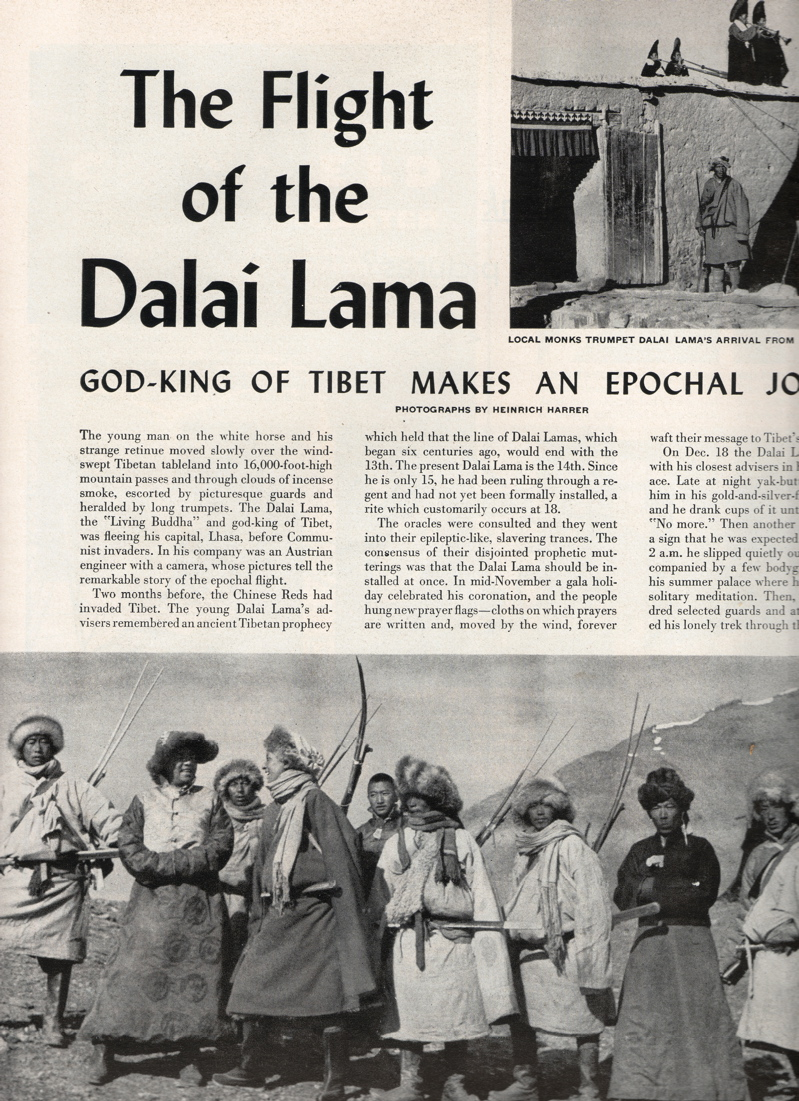 Image result for Heinrich Harrer leaves Tibet with the dalai lama 1951