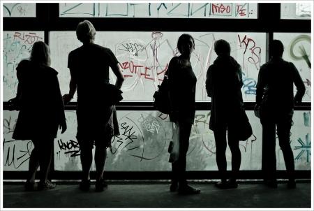 Turistas en el Tacheles, Berlin 2010.